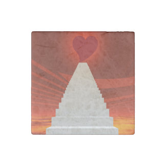 Stairs to love stone magnets