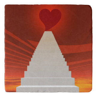 Stairs to love trivet