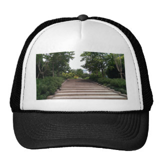 Stairway in the park trucker hat