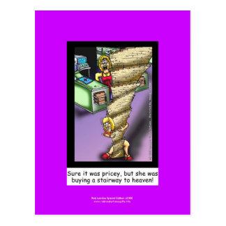 Stairway To Heaven Parody Cartoon On Postcard