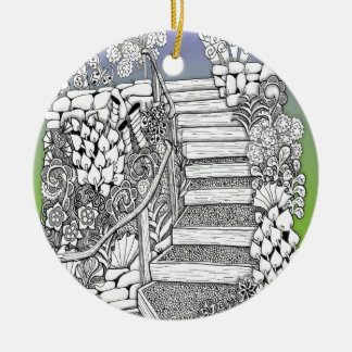 Stairway to Heaven Zentangle Christmas Ornament