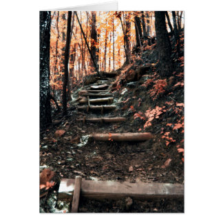 Stairway up the mountain card