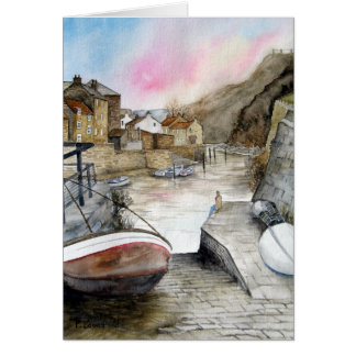 Staithes, North Yorkshire, England Card