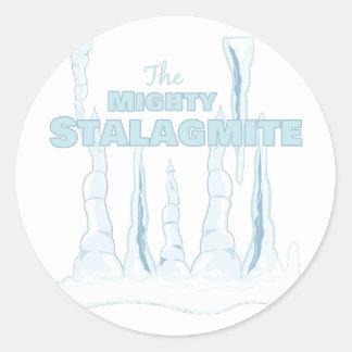 Stalagmite Round Sticker