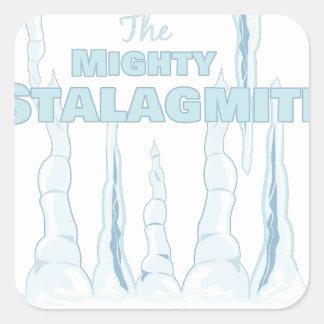 Stalagmite Square Sticker