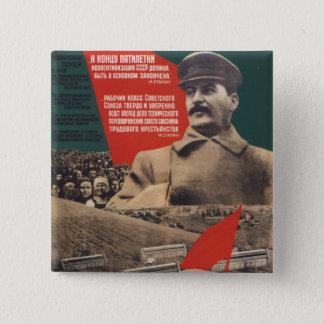 Stalin 2 Inch Square Button