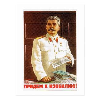 stalin poster art postcard
