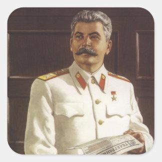 Stalin Square Sticker