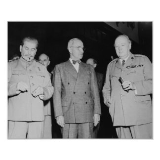 Stalin, Truman, And Churchill -- WW2 Photo Poster