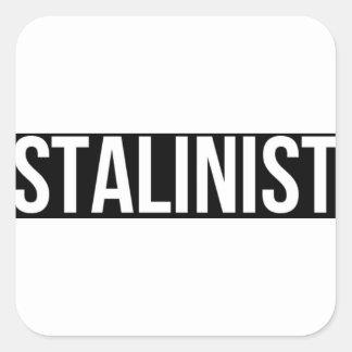 Stalinist Josef Stalin Soviet Union USSR CCCP Square Sticker