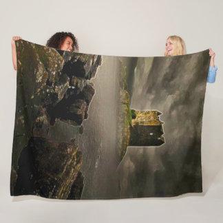 Stalker Castle, Scotland Acrylic Art Fleece Blanket