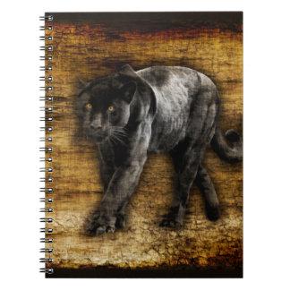 Stalking Black Panther Artwork Notebook
