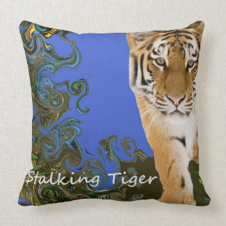 Stalking Tiger. Throw Pillow