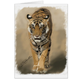 Stalking Tigress Greeting Card