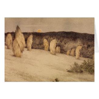 Stalks of Grain in Moonlight Card