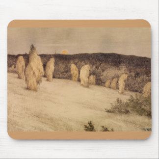 Stalks of Grain in Moonlight Mouse Pads