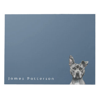 Stalky Pit Bull Dog Drawing Notepad