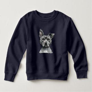 Stalky Pit Bull Dog Drawing Sweatshirt