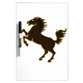 stallion horse on his hind legs design wildlife dry erase whiteboards
