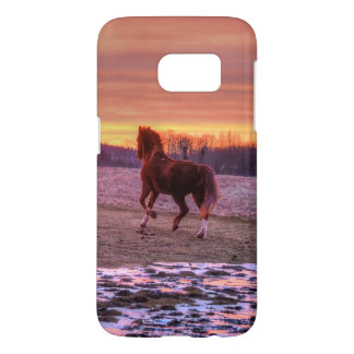 Stallion Running Home at Sunset on a Ranch Samsung Galaxy S7 Case