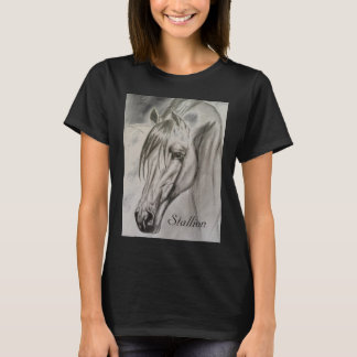 Stallion short sleeved simple T-shirt