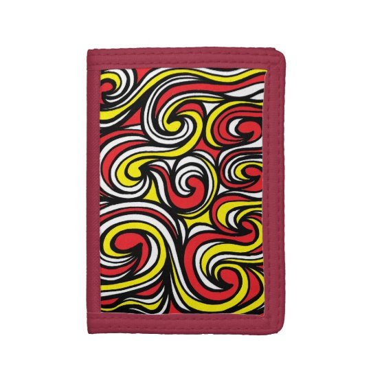 """Stambaugh"" Men's TriFold Wallet Yellow Red"