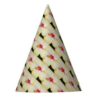 Stamen With Yellow Hibiscus Petal Background Party Hat