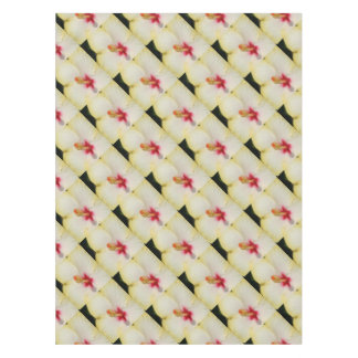 Stamen With Yellow Hibiscus Petal Background Tablecloth