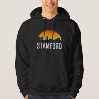 Stamford Connecticut Sunset Skyline Hoodie