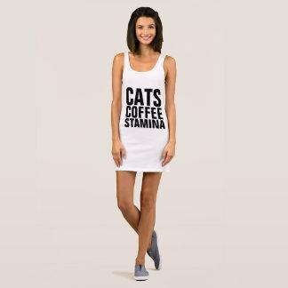 STAMINA Cat Coffee workout T-shirt dress