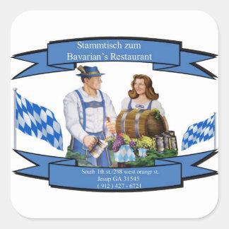 Stammtisch zum Bavarian's Restaurant Square Sticker