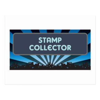 Stamp Collector Marquee Postcard