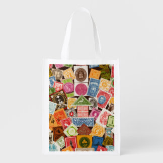 Stamp Collector Reuseable Bag Grocery Bags