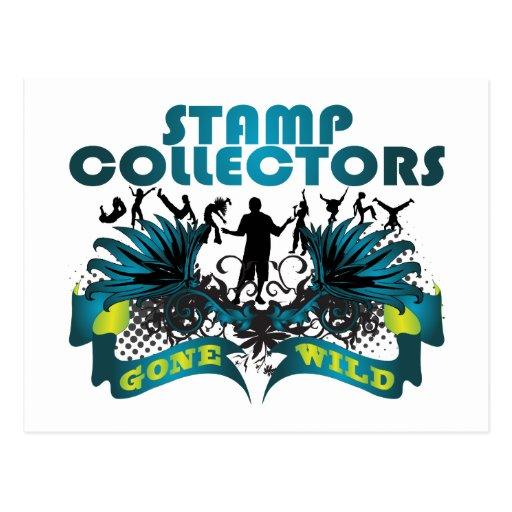Stamp Collectors Gone Wild Postcards