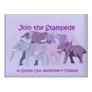 Stamp Out Alzheimer's Postcard