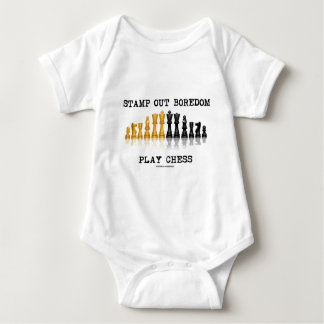 Stamp Out Boredom Play Chess (Chess Set) Baby Bodysuit