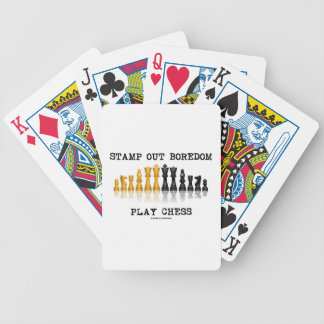 Stamp Out Boredom Play Chess (Chess Set) Bicycle Playing Cards