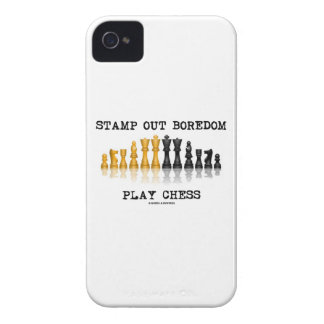 Stamp Out Boredom Play Chess (Chess Set) iPhone 4 Covers