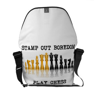 Stamp Out Boredom Play Chess (Reflective Chess) Commuter Bag