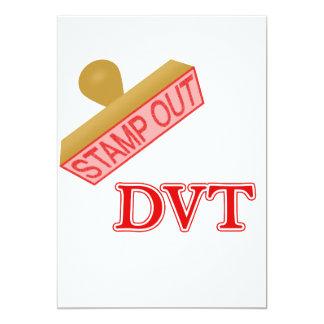 "Stamp Out DVT 5"" X 7"" Invitation Card"