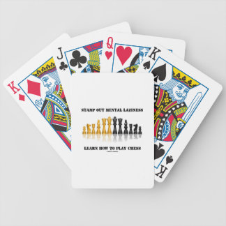 Stamp Out Mental Laziness Learn How To Play Chess Poker Deck