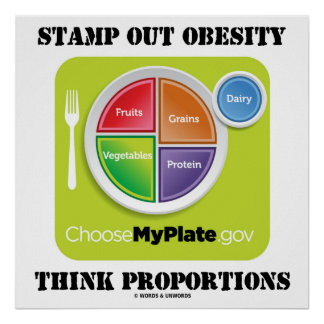 Stamp Out Obesity Think Proportions (MyPlate) Poster