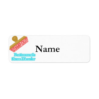 Stamp Out Posttraumatic Stress Disorder Return Address Label