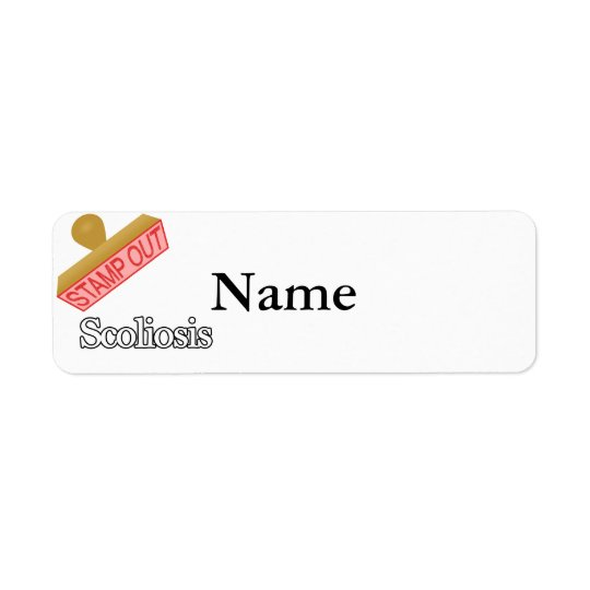 Stamp Out Scoliosis Return Address Label