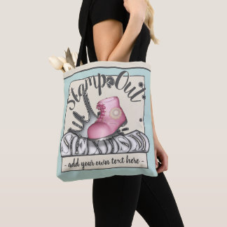 Stamp Out Sexism Pink Workboot Tote Bag