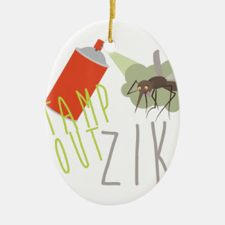 Stamp Out Zika Ceramic Ornament