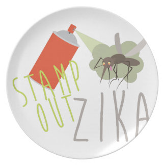 Stamp Out Zika Plate
