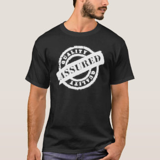 stamp quality assured white T-Shirt