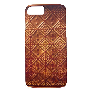 Stamped Aged Copper Pattern iPhone 7 Case