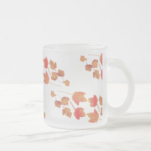 Stamped Maple Leaves Frosty Mugs